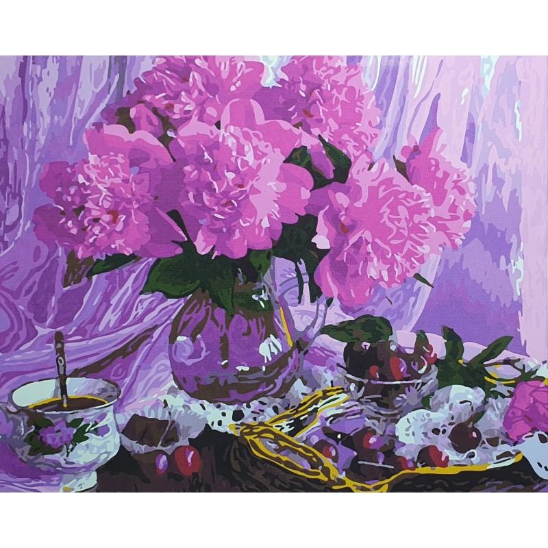 Рисуване по номера - Розови божури